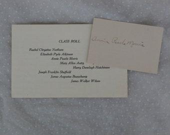 1915 Graduation Announcement, Nashville, Arkansas High School, Antique Ephemera