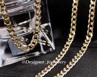 10K gold 24 inch curb chain