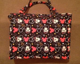 Mickey Mouse Diaper Bag, Carryall, Baby Bag, Infant Bag