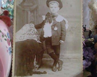 Antique Vintage Photograph Cabinet Card-Caleb-Little Boy