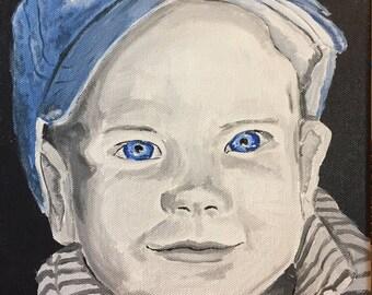 "Custom Colorized ""Selfie"" Portrait Paintings on Canvas"