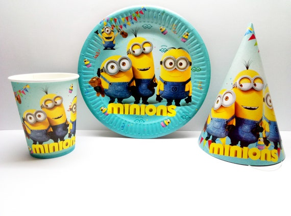 Deable Me 3 Minions Party Supplies Pack Tableware For 16  sc 1 st  Plate & Minion Paper Plates And Cups - Best Plate 2018