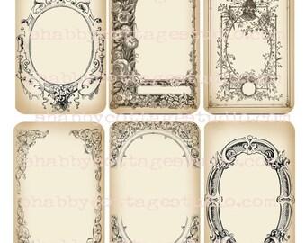 INSTANT DOWNLOAD DIGITAL Download - U-Print - Frames Tags - Printable Images - Hang Tags - Gift Tags - Journaling - Scrapbooking