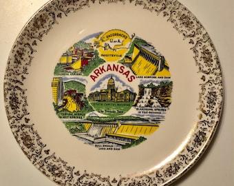 Vintage Arkansas Souvenir Plate
