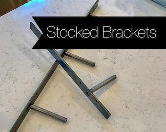 Floating Shelf Steel Bracket - 7 Sizes - 200 lb. Capacity - Free Shipping - Stocked Sizes