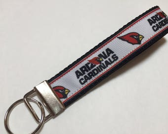 Arizona Cardinals Football Team Key Fob Keychain Wristlet