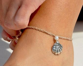 Sea Life Anklet | Beach Anklet | Foot Bracelet | Seashell Jewelry | Beige Anklet | Shell Foot Jewelry | Charm Anklet | Beach Ankle Bracelet