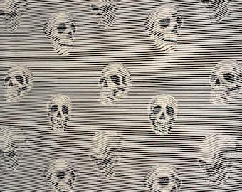 Between the Lines in Grey - Alexander Henry Fabric - NEW