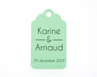 10 2.4 x 4 cm personalized labels for your wedding or christening favors