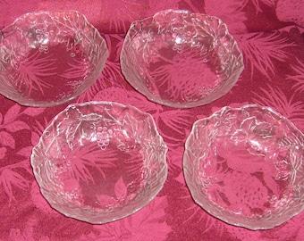 Arcoroc Cris d'Arques Durand Mallory Grapevine Cereal Bowls