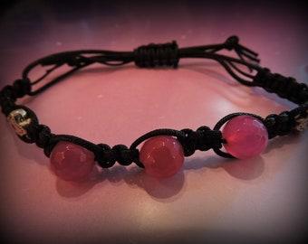Pink bracelet, macrame bracelet
