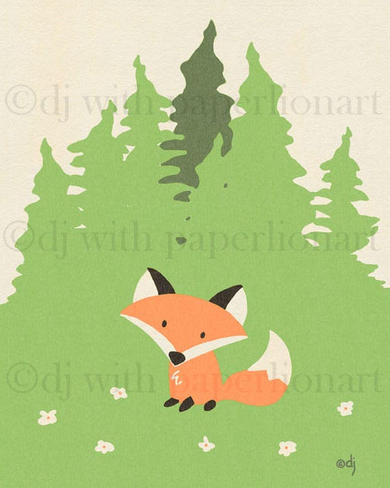 Fox Meadow Print **FREE SHIPPING**