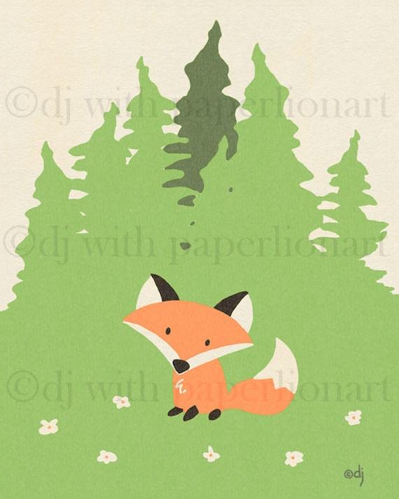 Fox Meadow Print **FREE SHIPPING**
