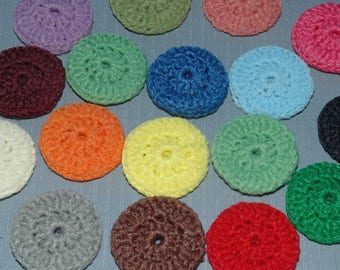 Scrubbies 20 Double thick mixed colors, hand crochet, nylon, pot scrubbers, dish cloths,