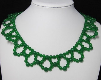 Malay Jade and 925 Silver 19 inch Necklace
