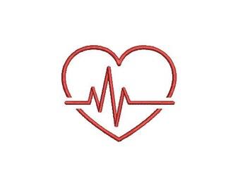 29 Sizes Heart Beat HeartBeat Nurse Embroidery Fill Mini Design Machine Instant Download Digital File EN2207F2