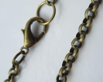 55% off 10 Antique Bronze Chain Necklaces - Pendant Chain -3.8mm Wholesale AE1042