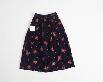 floral corduroy skirt | pink and purple floral skirt | 90s floral skirt
