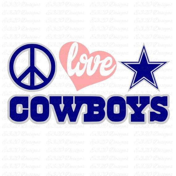 Download Peace Love Dallas Cowboys SVG File