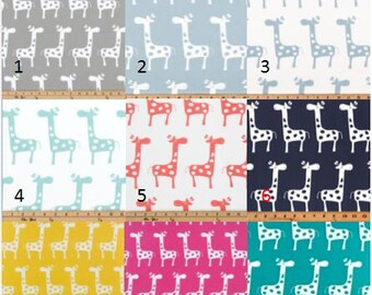 Nursery/Children's Themed Window Curtains- Giraffe Window Treatments-Pair Of 50 Inch Wide Drapery Panels