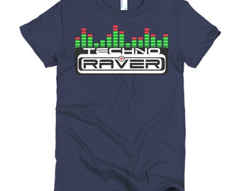 RAVER GIRL Techno Sound Bar T Shirt