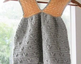 Robe au crochet, robe bébé en coton, robe enfant en bas âge / / fabriqué à partir d'un mélange de fils de coton Pima / / beaucoup de tailles et couleurs au choix