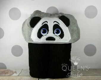 Kid's Hooded Towel - Panda Hooded Towel - Cute Panda Hooded Towel - Panda Towel for Bath, Beach, or Swimming Pool