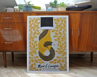 Mark Lanegan | A2 screen print poster | limited edition of 30
