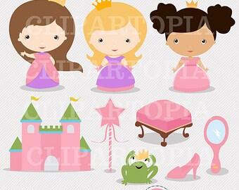 Princesitas pequeñas princesas digital clipart Para uso Personal y comercial /Descarga Instantanea