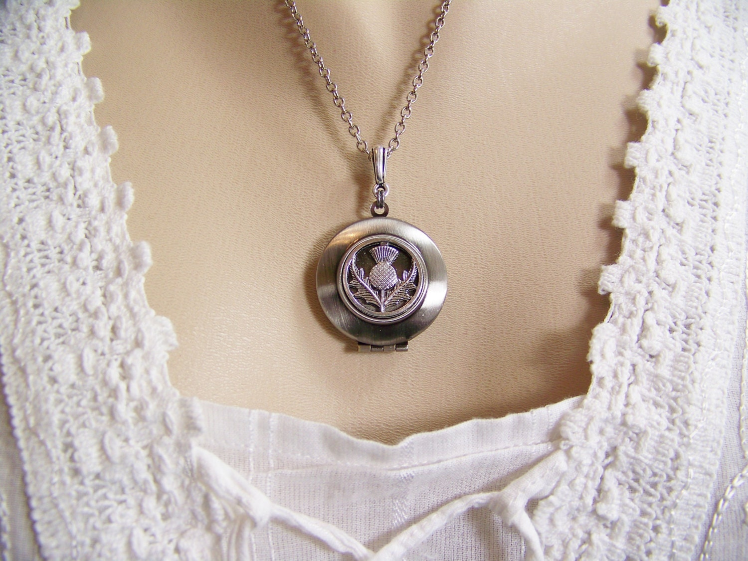 s sterling silver locket scottish pendant unnamed celtic heart jackalope thistle maxine lockets miller shop jewelry and by