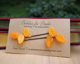 Fall Leaves Bobby Pins