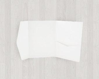 10 Mini Pocket Enclosures - White - DIY Invitations - Invitation Enclosures for Weddings & Other Events