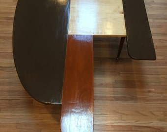 Unusual Beautiful Abstract  Pine Coffee Table