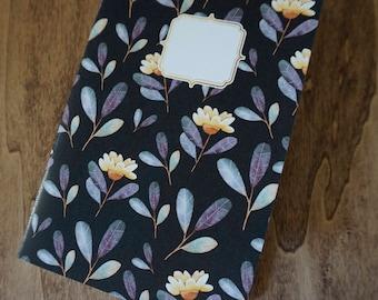 Flowers notebook A5 blank