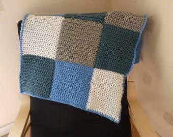 Warm crochet baby blanket