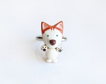 Red Siberian Husky ring