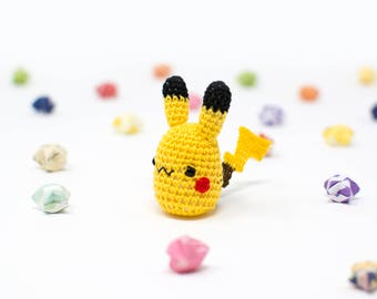 Pikachu / Pokemon / Crochet / Amigurumi / Plushie / Miniature / READY TO SHIP