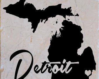 Detroit Michigan Coasters Free Shipping