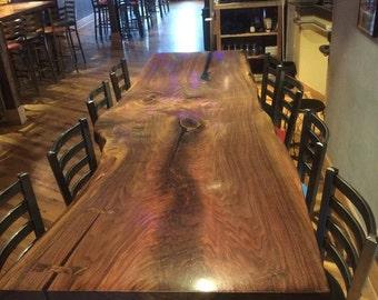 Walnut Slab Community Table