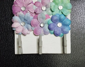 Homemade Canvas Board Jewelry or Picture Organizer