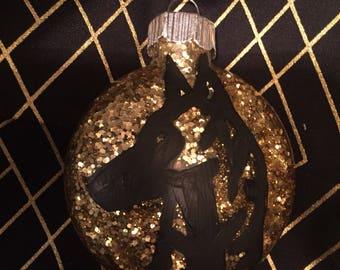 Gold Dutch shepherd ornament