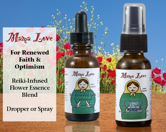 Flower Essence for Renewed Faith and Optimism, Relieving Discouragement, Organic, Reiki-Infused Bach Flower Remedy, Dropper or Spray