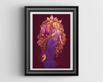At Last I See the Light - signed A4 Rapunzel print - 8x12