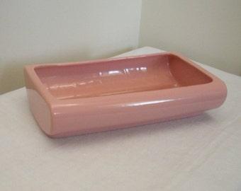 Vintage Mid Century Modern Pink Abingdon Planter 526