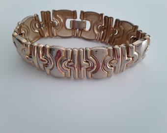 Vintage goldtone link bracelet, golden bracelet, link bracelet, vintage link bracelet, vintage birthday gift, mothers day gift,
