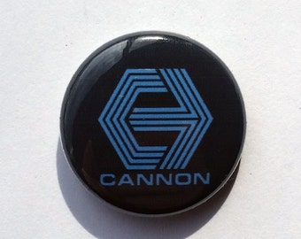 1 inch Pinback | Cannon Films | Classic Video and Film Logos