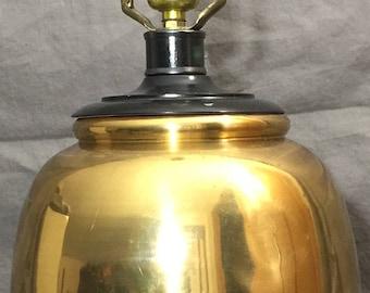 Vintage Round Brass Lamp