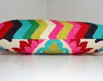 Waverly Santa Maria Desert Flower & Panama Wave Lumbar Print Decorative Pillow Cover 12x18