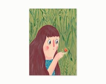 A4 Giclee Art Print - Garden Friends