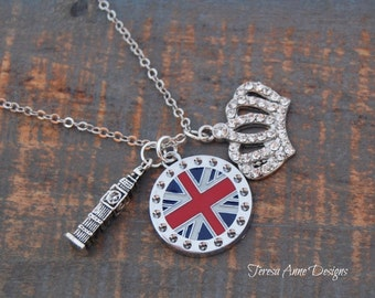 London Themed Charm Necklace